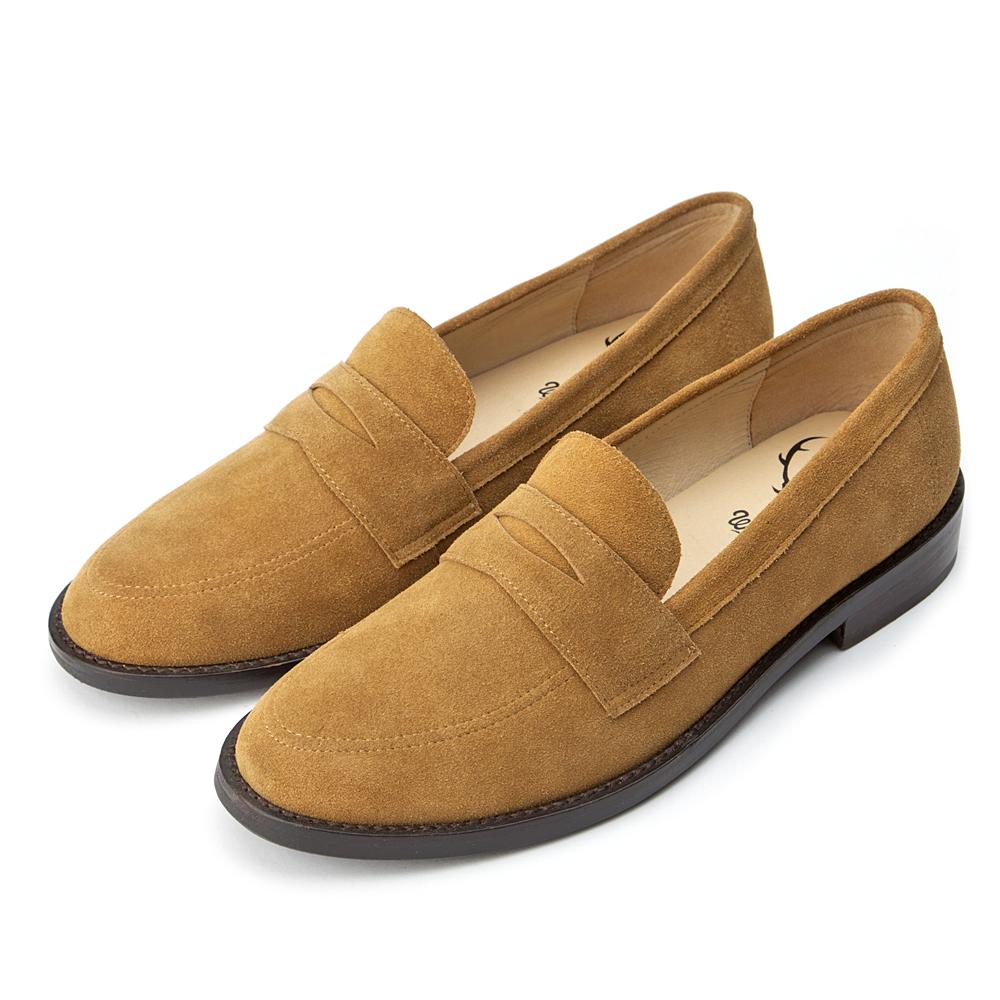 WHILE 懷舊英倫 紳士風休閒樂福鞋 - 棕色