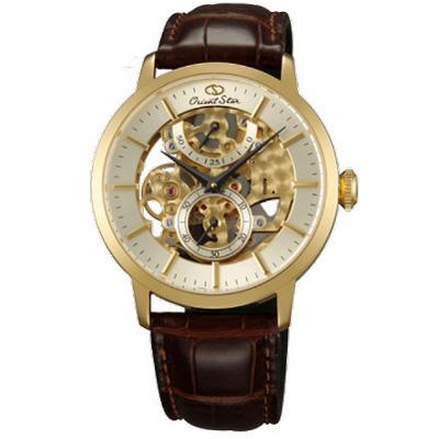 Orient Star 東方之星 全鏤空限量機械腕錶-金/39mm