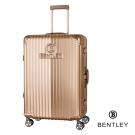 BENTLEY 29吋PC+ABS 升級鋁框拉桿輕量行李箱 香檳金
