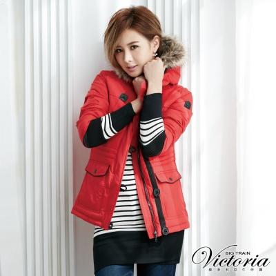 Victoria 條紋飛鼠袖長版TEE-女-黑白條紋