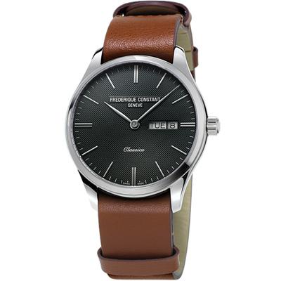 康斯登 Classics Quartz 百年經典Day-Date腕錶-40mm/黑