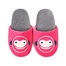 Yvonne Collection猴子胖胖拖鞋-桃紅L