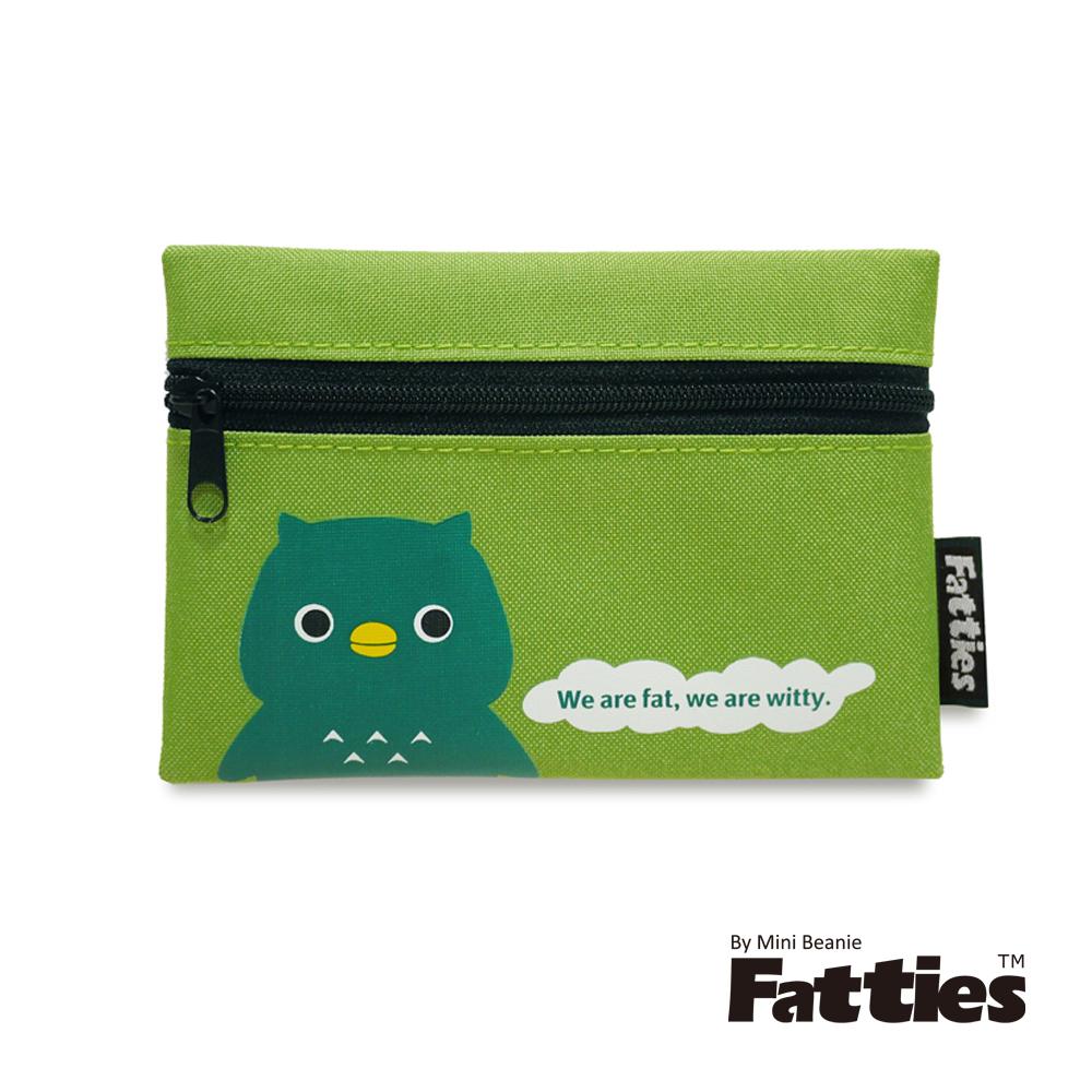 【Mini Beanie】Fatties-零錢包(內附鑰匙圈)-貓頭鷹(綠)