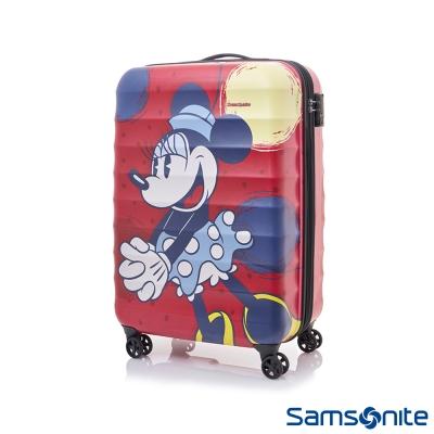 Samsonite新秀麗-Diseny米妮聯名款20吋TSA防刮登機箱-霧面紅