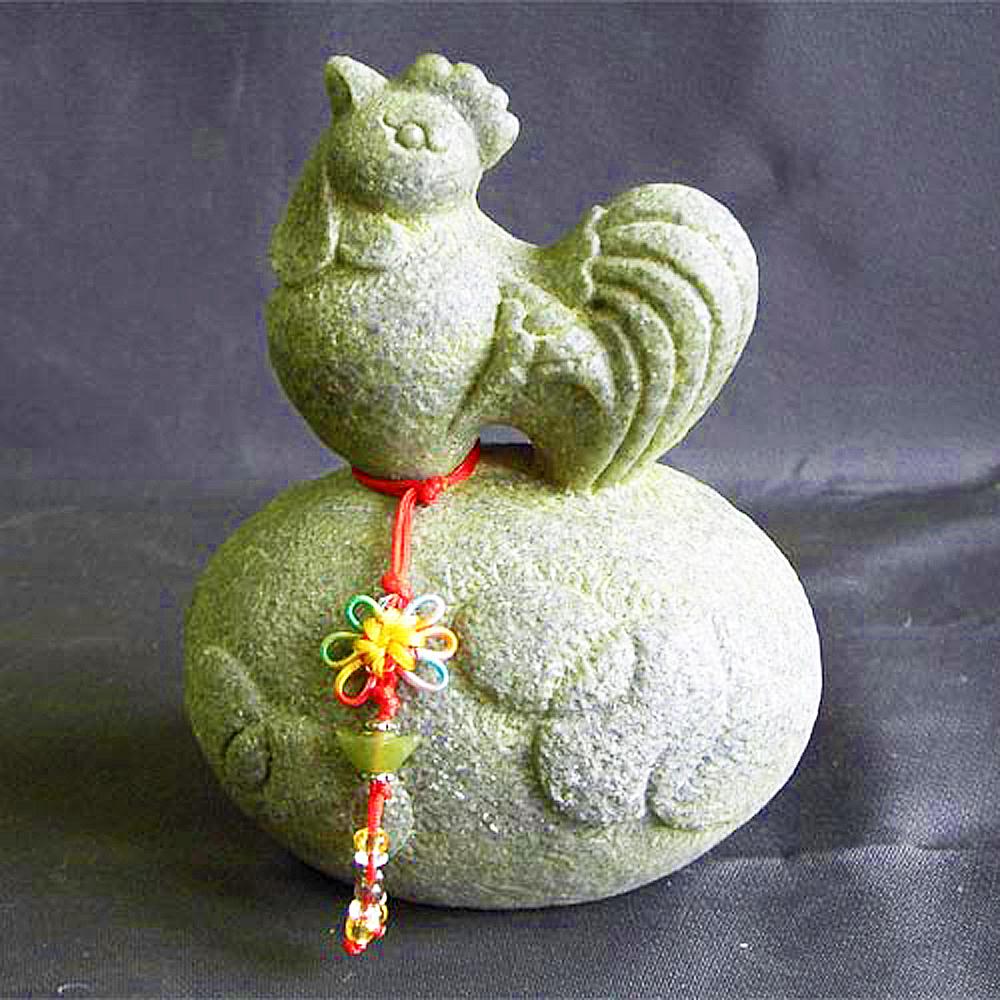 開運陶源  石塑造十二生肖【雞】青斗石*限量888