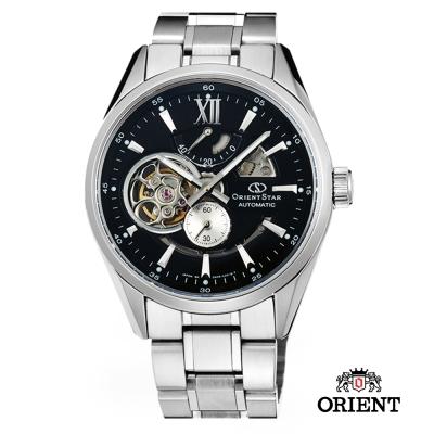 ORIENT STAR 東方之星 OPEN HEART系列 鏤空機械錶-黑色/41mm