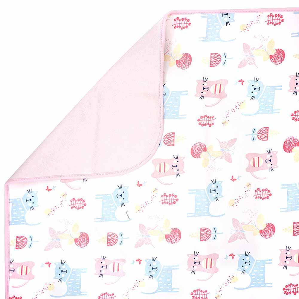 Baby unicorn粉紅貓咪多功能防水隔尿墊野餐墊