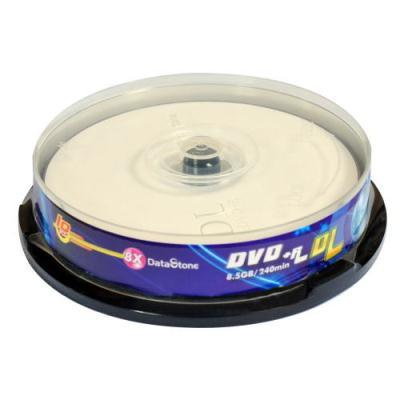 DataStone 精選日本版正A級 DVD+R DL 8X 燒錄片桶裝 (10片)
