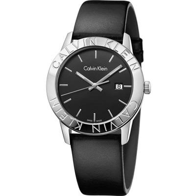 Calvin Klein cK Steady優雅時尚腕錶-黑38mm