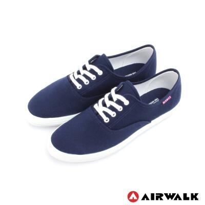 AIRWALK-女-帆布鞋-SWEET繽紛輕柔感-純棉帆布鞋-海邊藍