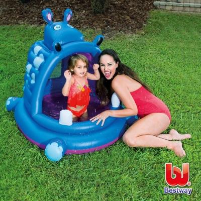 《凡太奇》Bestway。兒童充氣河馬造型戲水池