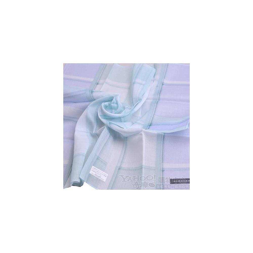 BURBERRY 經典漸層色大正格紋領巾(藍綠色)