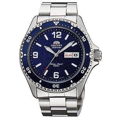 ORIENT 尖峰時刻自動上鍊機械運動腕錶(FAA02002D9)-藍/41.5mm