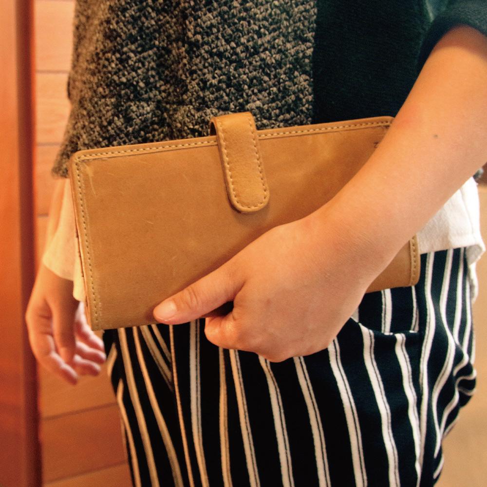 CALTAN-女用長夾卡片夾 鈔票夾 皮件 證件夾 名片夾 信用卡夾 皮件 -2043ht