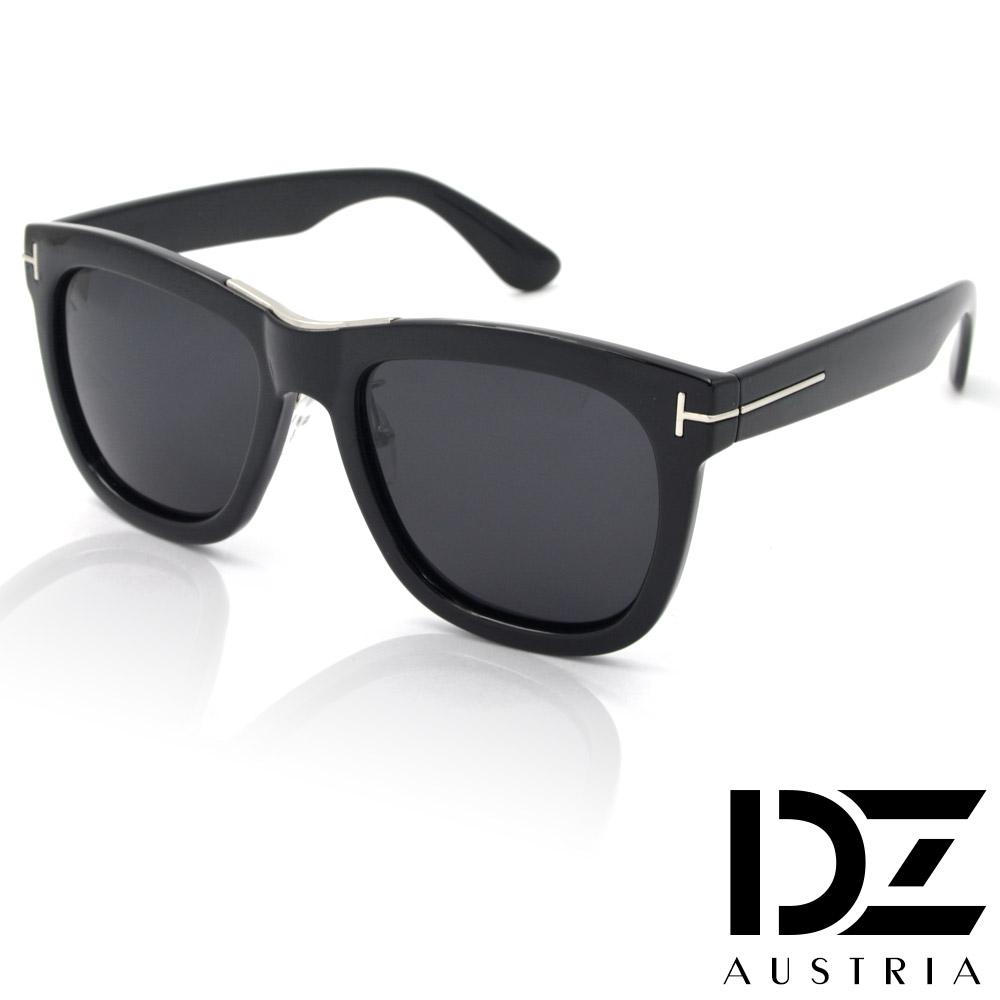 【滿千69折】DZ 明星T線 抗UV 偏光 太陽眼鏡墨鏡(亮黑框)