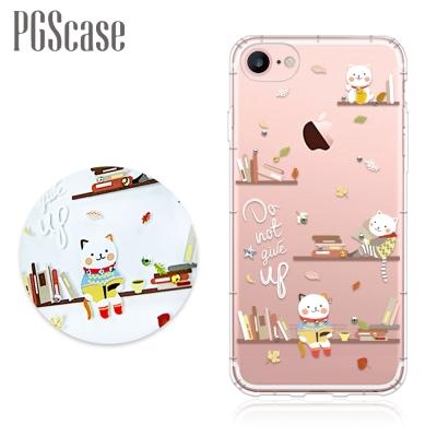 PGS iPhone8/7 4.7吋奧地利彩鑽防摔手機殼-貓咪書房