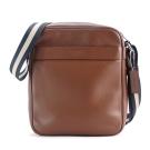 COACH LOGO 新款壓印素面皮革斜背包(棕)