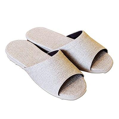 HOME WORKING 新‧日式皮革拖鞋-米棕