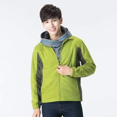 【SNOW FOX 雪狐】男款北極絨細緻刷毛保暖外套 FC-71651 果綠/綠