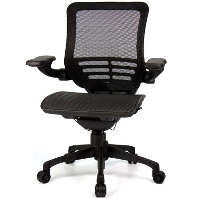 aaronation 愛倫國度 線控底盤人體工學椅 黑網尼龍腳