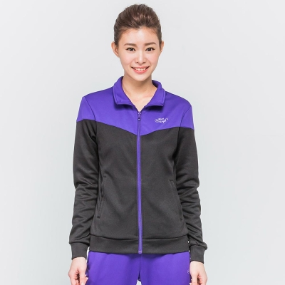FIVE UP(女)-撞色休閒針織外套-紫