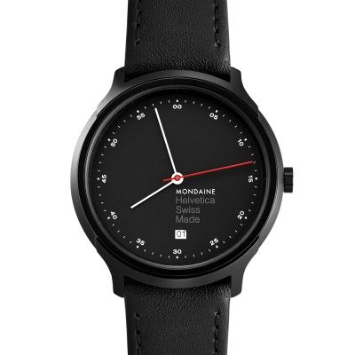 MONDAINE 瑞士國鐵Erik Spiekermann聯名紀念錶-鍍黑/40mm