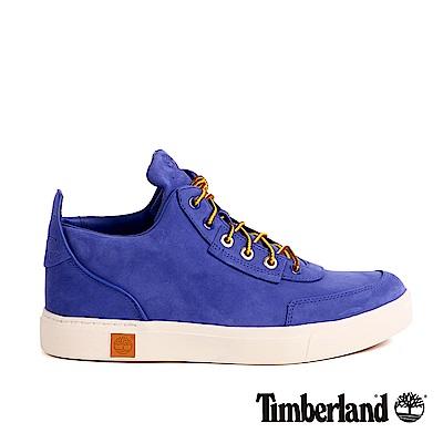 Timberland 男款Amherst藍色絨面高筒休閒鞋