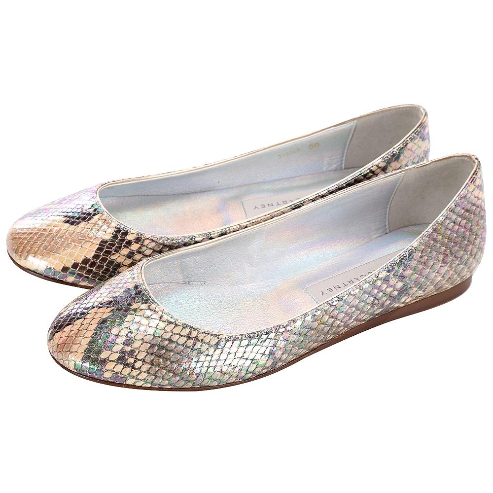 Stella McCartney 蛇紋平底娃娃鞋(駝金色)