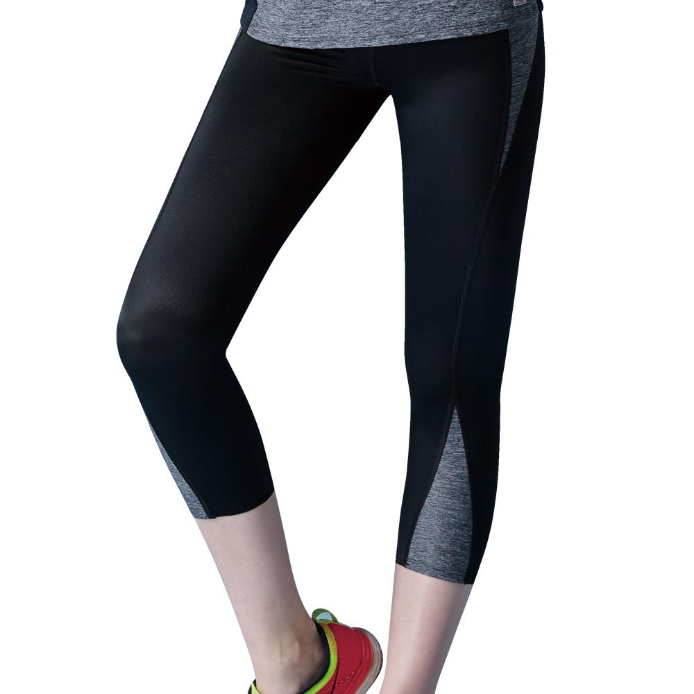 思薇爾 K.K.Fit系列M-XL高腰七分外搭褲(黑色)