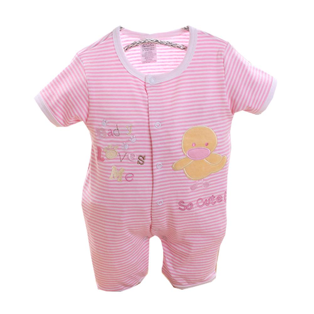 魔法Baby 法國設計短袖連身衣 k50116