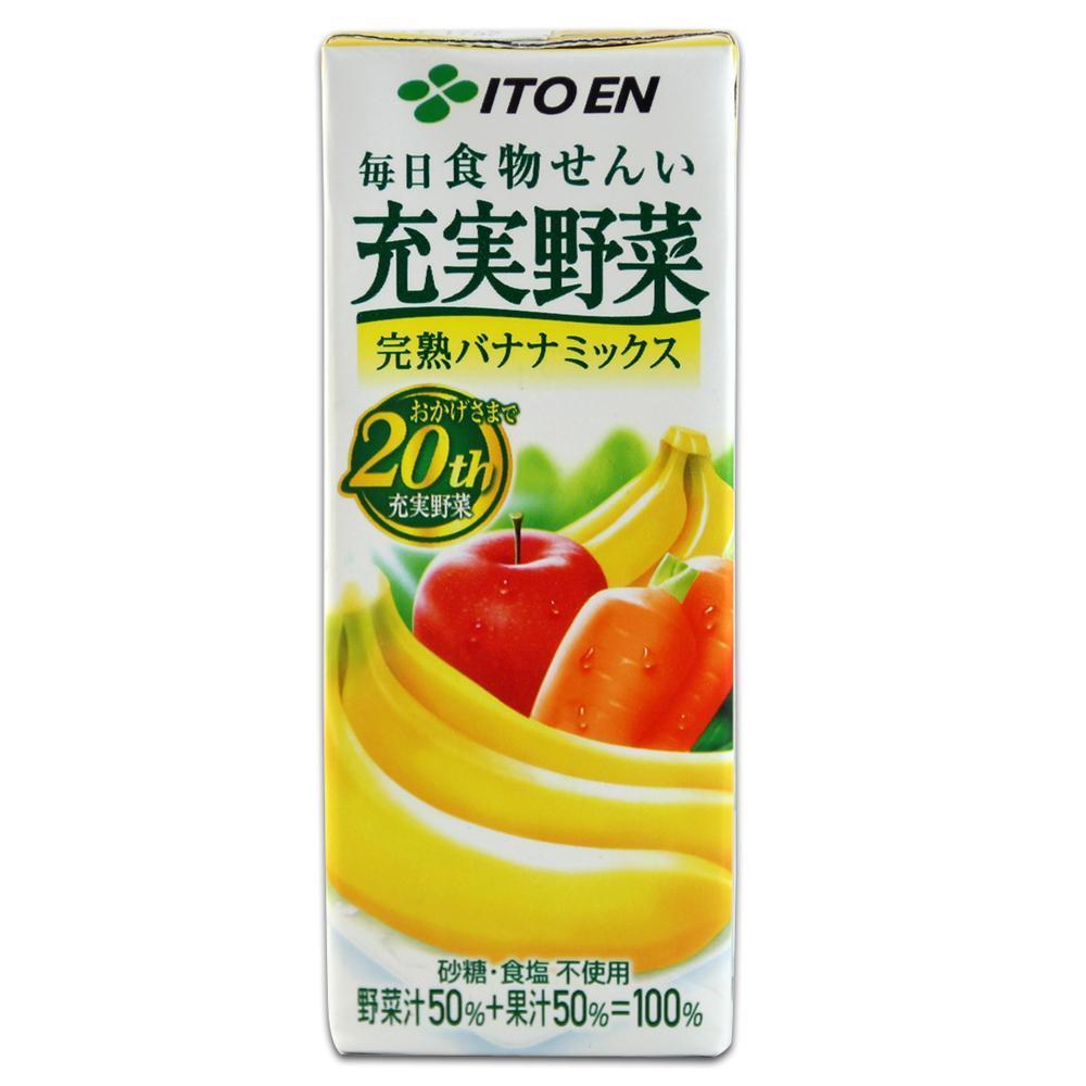 伊藤園  充實野菜汁-香蕉水果(200ml x6入組)