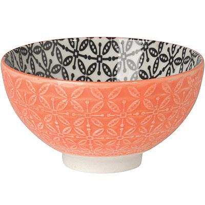 NOW 雙色壓紋餐碗(橘)