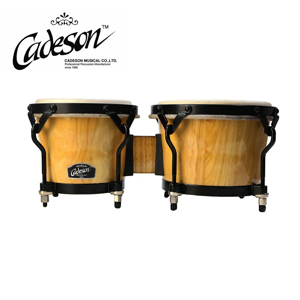 CADESON DR82-2PS-K 拉丁邦哥鼓 專業原木色黑框款
