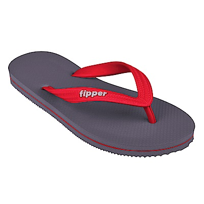 Fipper SLICK 天然橡膠拖鞋 GREY- RED