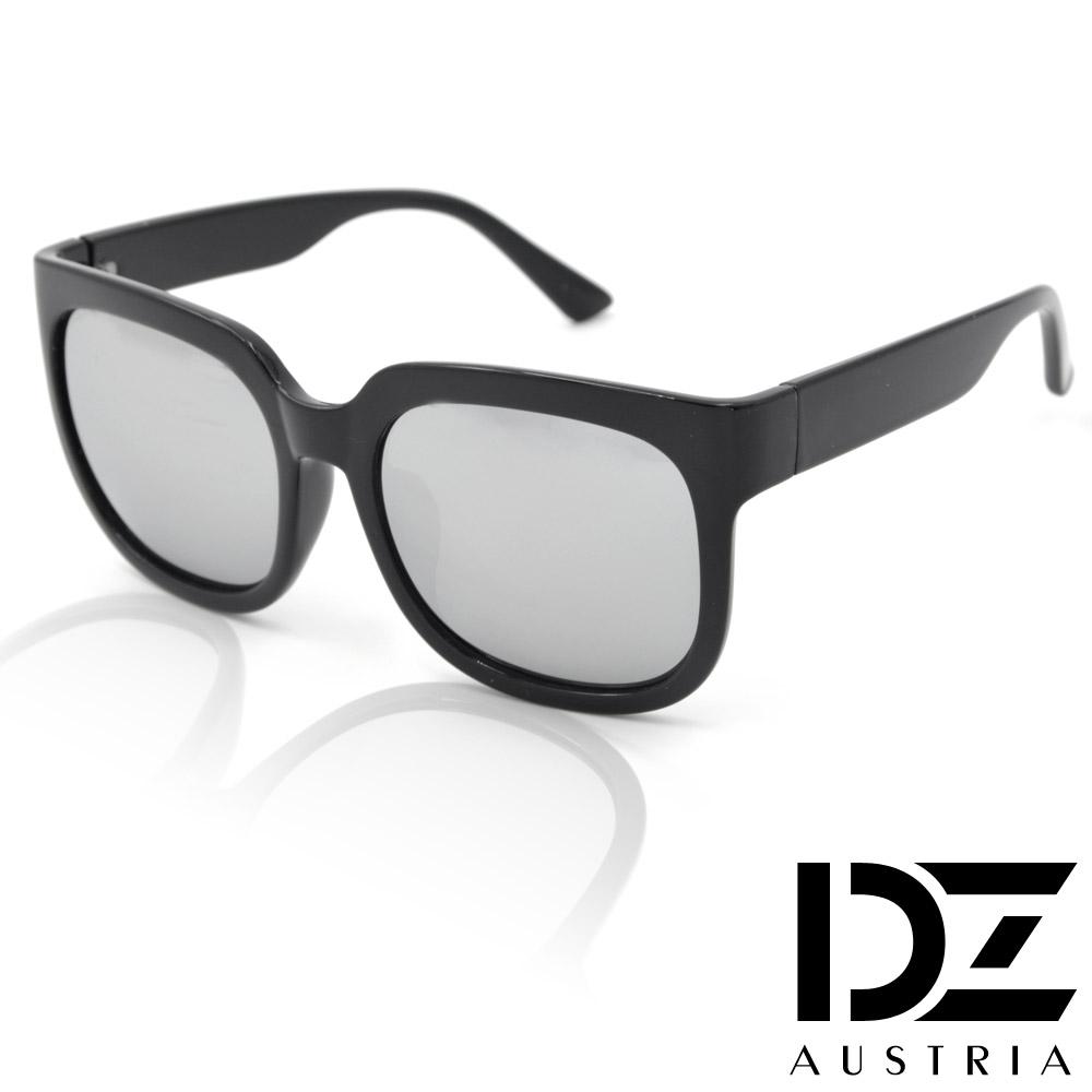 DZ 韓妞弧方框 抗UV太陽眼鏡造型墨鏡(水銀膜)