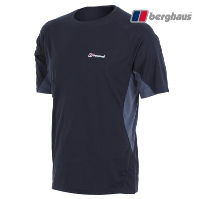 【Berghaus貝豪斯】男款銀離子除臭抗菌吸濕快乾短袖上衣S04M04黑