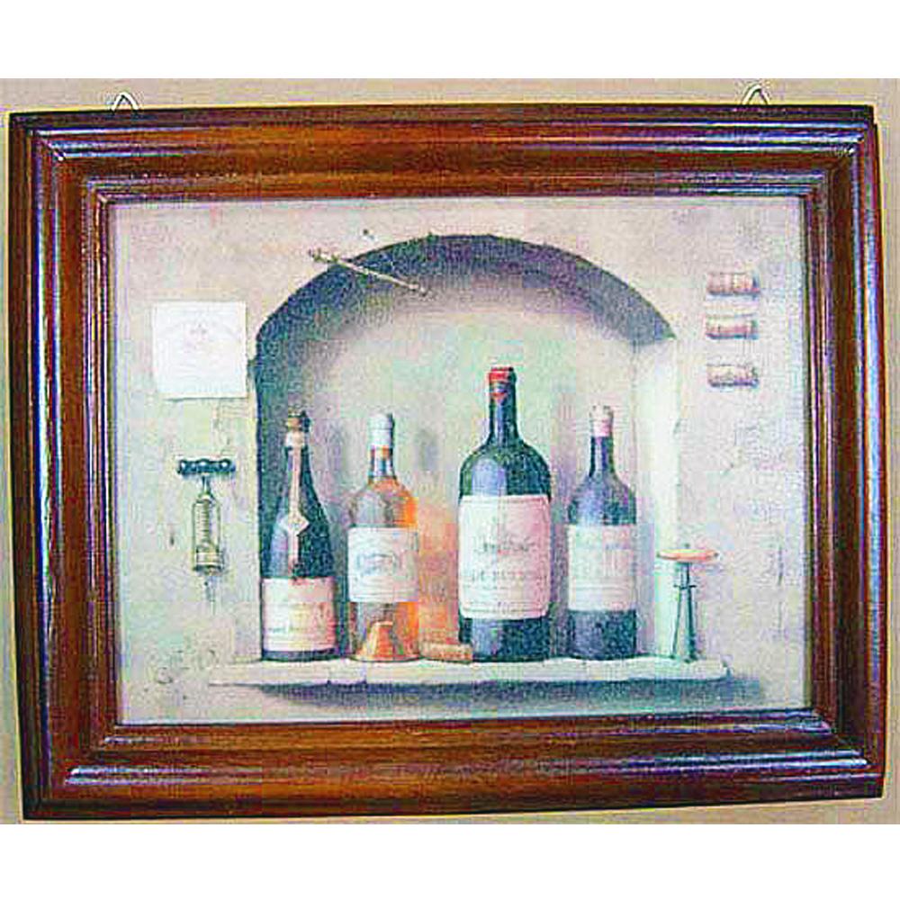 開運陶源【Wine1】原木鑰匙盒壁飾