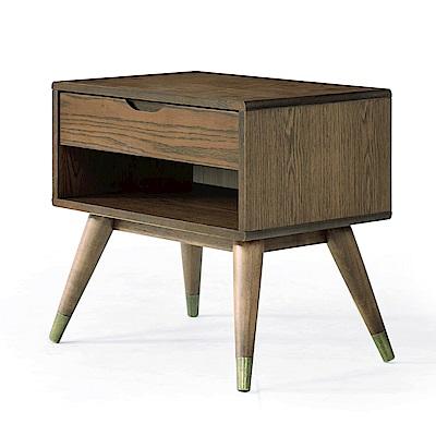 品家居 布喬兒2尺木紋床頭櫃(二色可選)-60x40x56.5cm免組