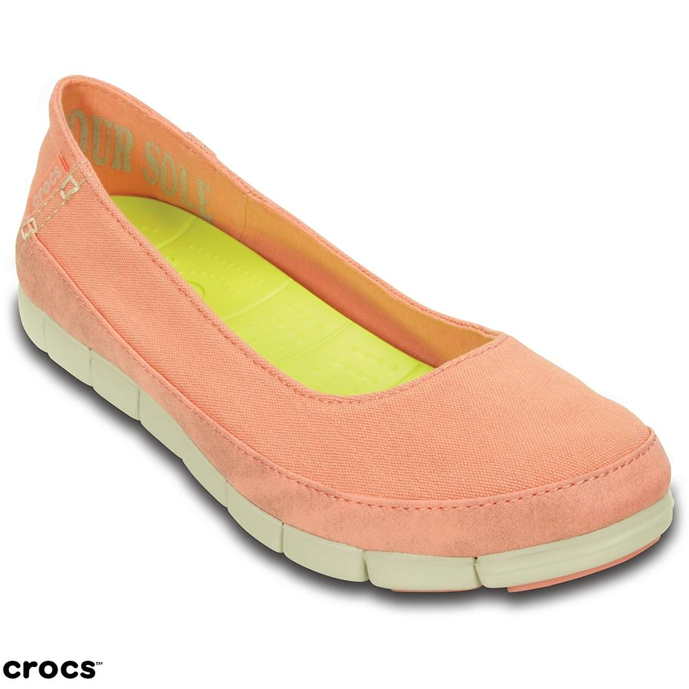 Crocs 卡駱馳 (女) 舒躍奇平底鞋-15317-6KM