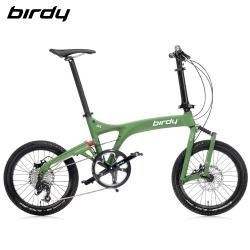 New Birdy(Ⅲ) GT多地形越野10速18吋前後避震鋁合金折疊單車-消光軍規綠
