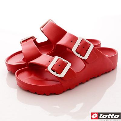 Lotto樂得-馬卡龍輕量拖鞋款-SFI622小紅莓(女段)