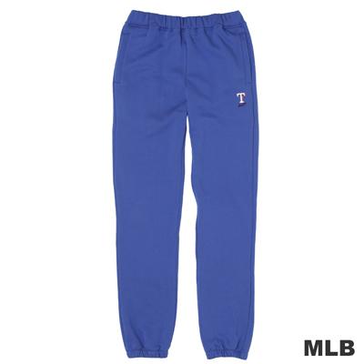 MLB-德州遊騎兵隊縮口電繡厚長褲-藍(男)