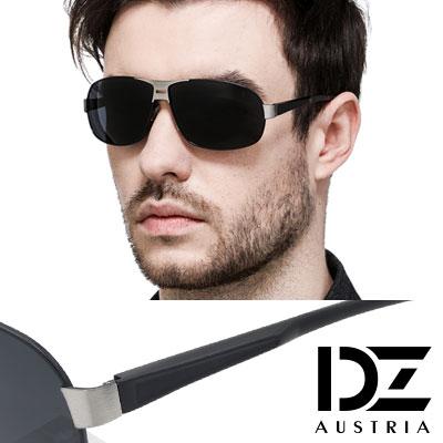 【2件59折】DZ 悍將個性 抗UV 偏光太陽眼鏡墨鏡(酷黑系)