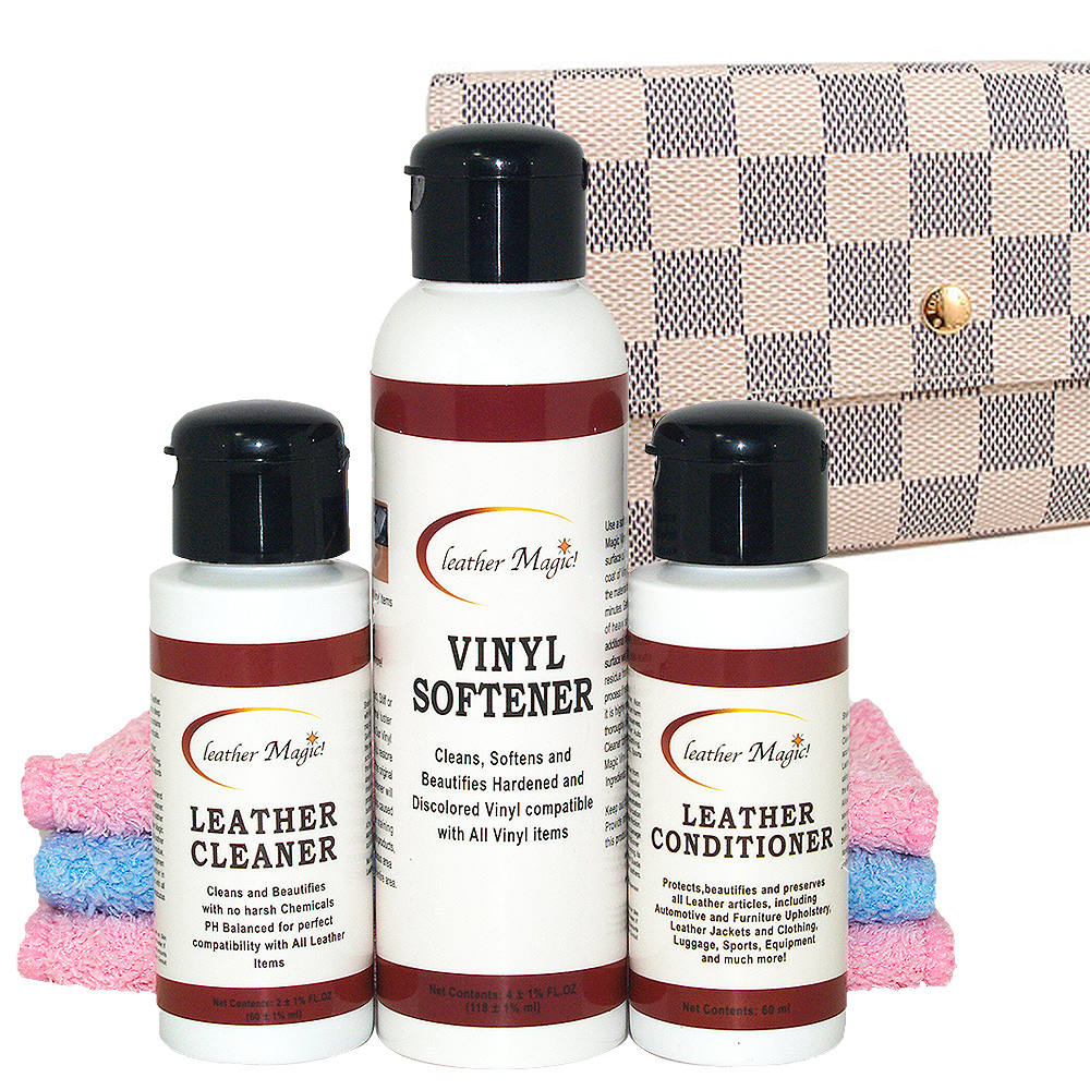 皮革魔法師-LV 淺色棋盤格小型皮件清潔保養組