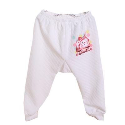 POLI三層純棉厚保暖褲 白 k60273