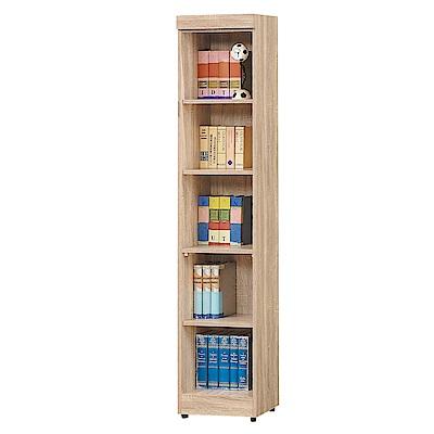 Bernice-達爾思1.3尺開放式五格書櫃收納櫃展示櫃-39x32x185cm