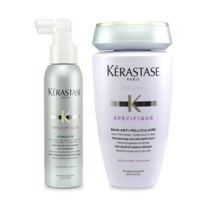 KERASTASE卡詩 飛梭淨化呼吸組(飛梭淨化髮浴+α胺基酸頭皮全能精華)