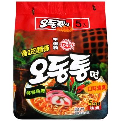 OTTOGI不倒翁 烏龍拉麵 海鮮風味(120gx5入)