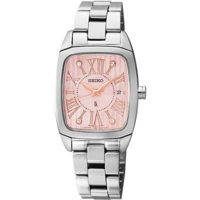 SEIKO LUKIA 低調奢華晶鑽限量腕錶(SXDF03J1)-粉/25mm