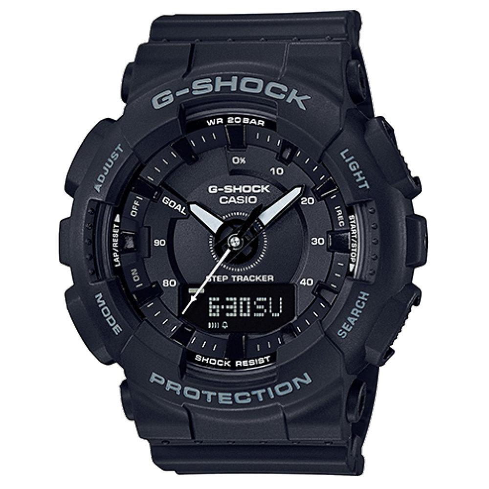 G-SHOCK 超人氣指針數位雙顯錶款(GMA-S130-1A)-黑色/47mm